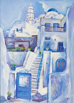 Temple And House In Santorini