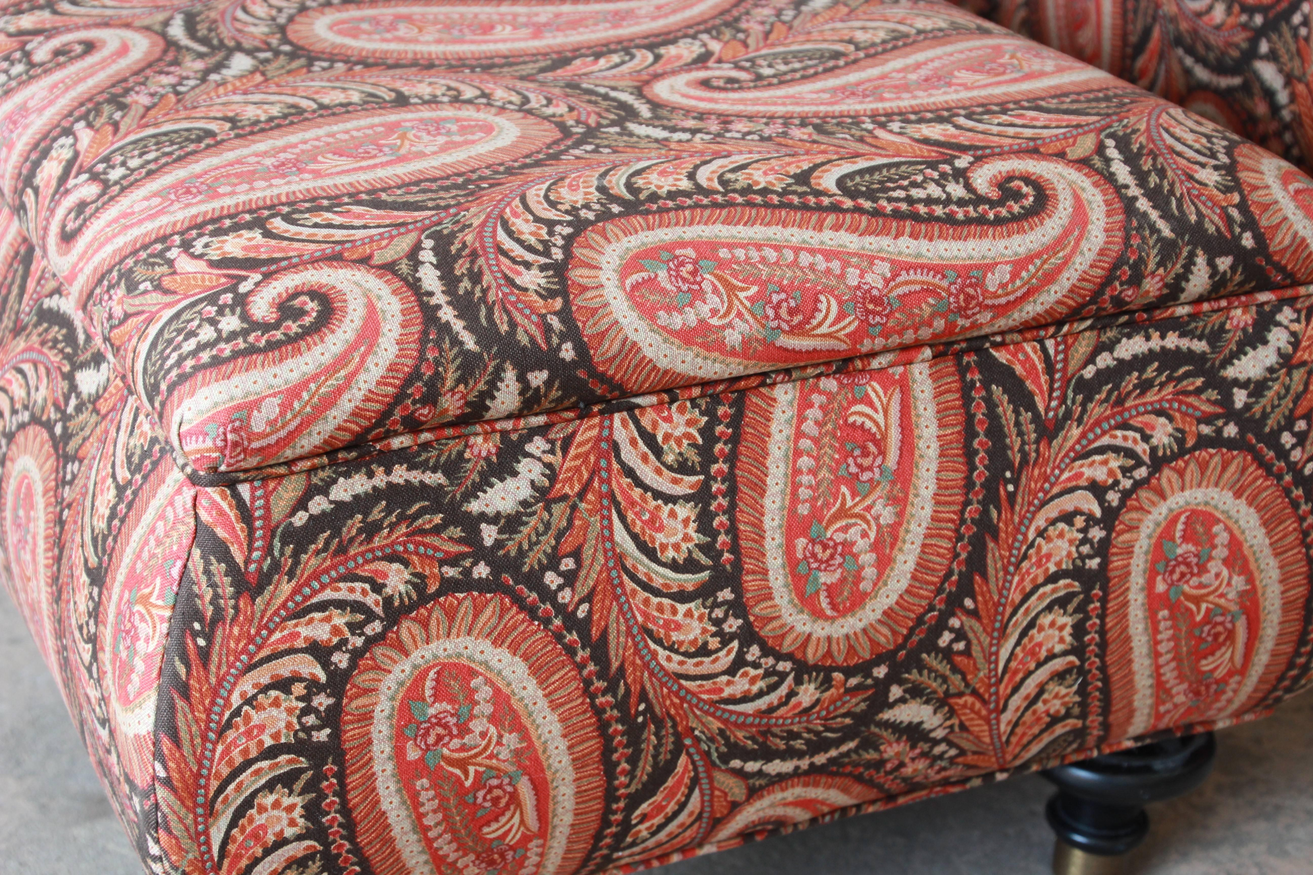Wondrous Kravet Lounge Chair And Ottoman In Paisley Upholstery At 1Stdibs Creativecarmelina Interior Chair Design Creativecarmelinacom