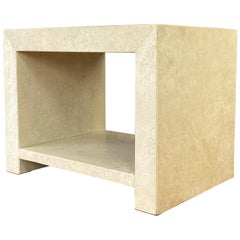 Kreiss Caravelle Travertine Marble End Table