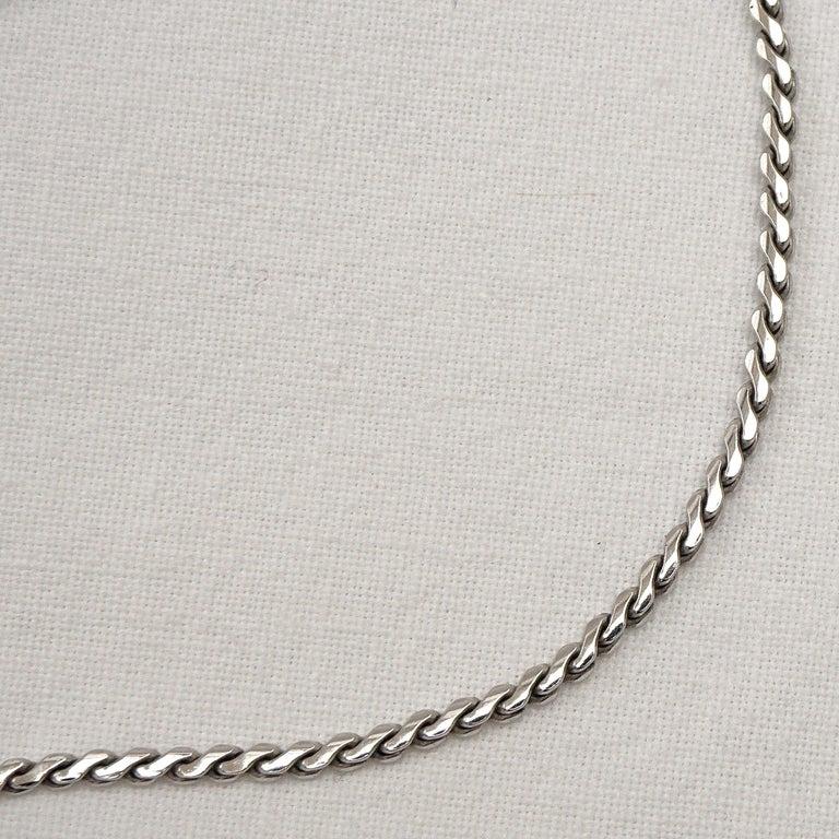 Krementz 14K White Gold Overlay Leaf Design Rhinestone Necklace and Earring Set For Sale 6
