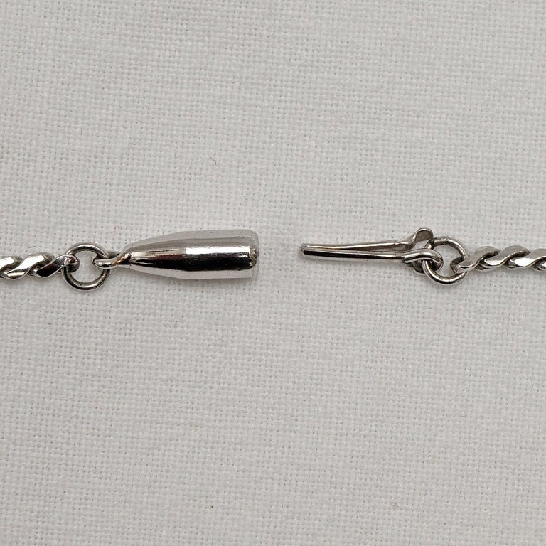 Krementz 14K White Gold Overlay Leaf Design Rhinestone Necklace and Earring Set For Sale 7