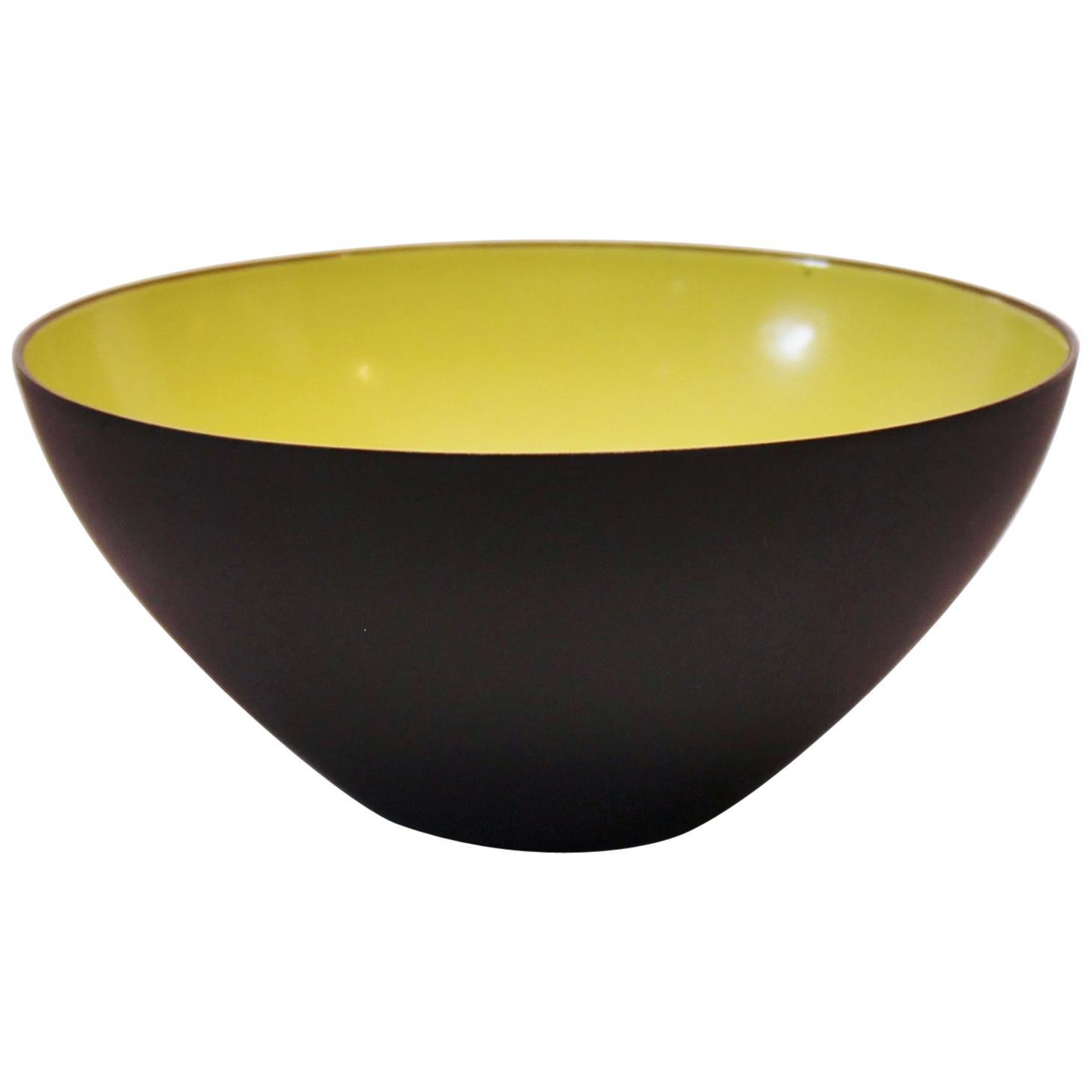 Krenit Bowl, Light Green Enamel, by Herbert Krenchel, 1960s