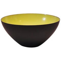 Krenit Bowl, Light Green Enamel, by Herbert Krenchel, 1960s