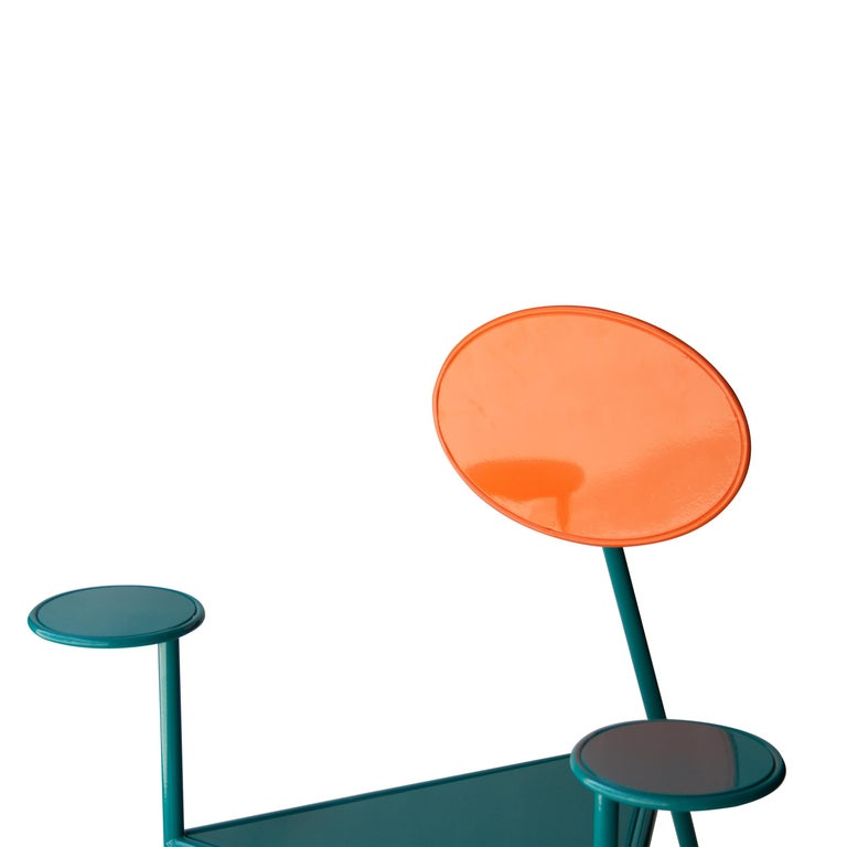 Kresta Studio Contemporary Steel Laquered Orange Green Chair, Spain, 2019 In New Condition For Sale In Madrid, ES