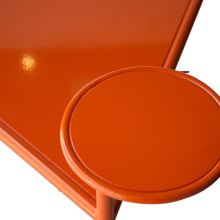 Kresta Studio Contemporary Steel Laquered Orange Green Chair, Spain, 2019 For Sale 3