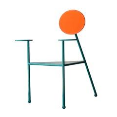 Kresta Studio Contemporary Steel Laquered Orange Green Chair, Spain, 2019