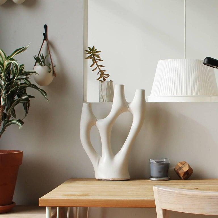 Organic Modern Kreten Candelabra from Souda, Jet Black, Made to Order For Sale