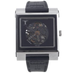 Krieger Stainless Steel Skelton Skeleton Special Edition Wristwatch