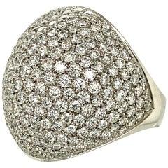 Krieger White Gold Dome Pavé Diamond Ring