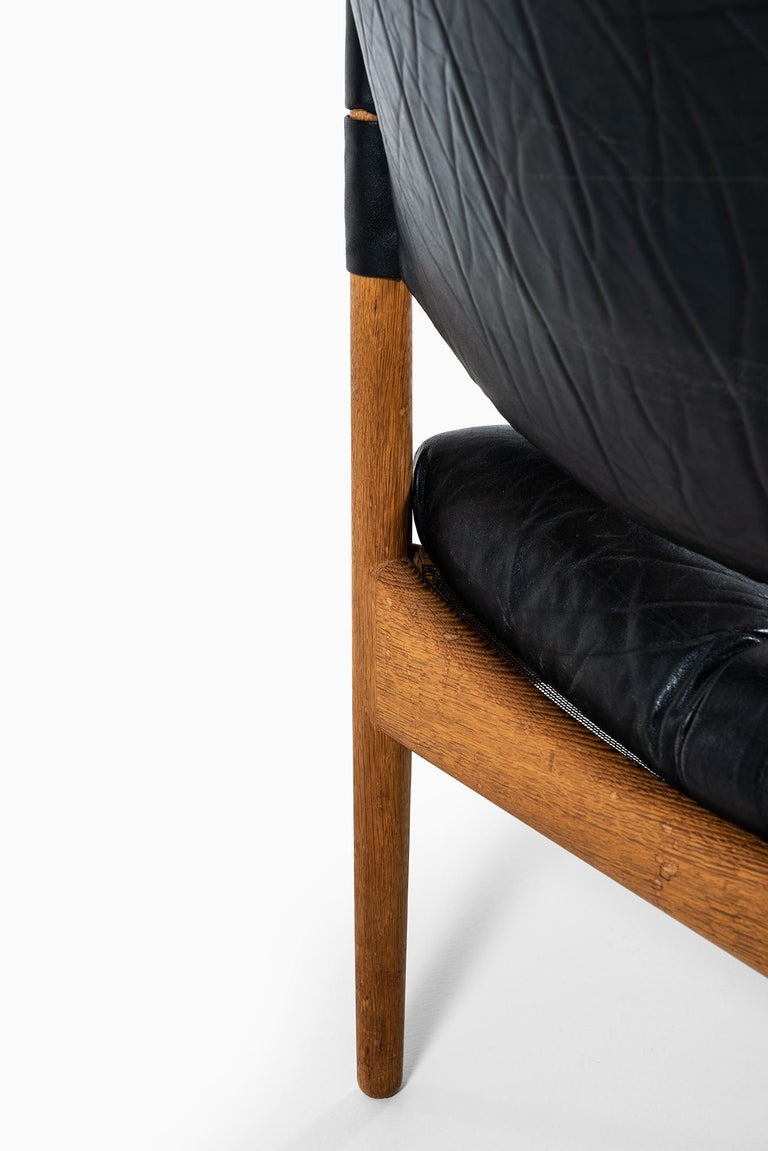 Leather Kristian Solmer Vedel Easy Chairs Model Modus by Søren Willadsen in Denmark For Sale