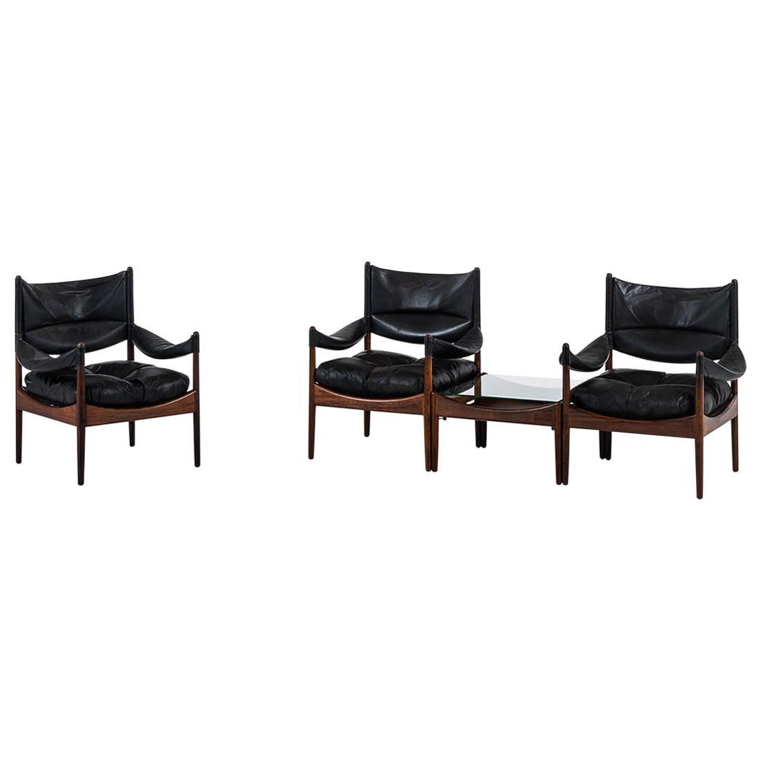 Kristian Solmer Vedel easy chairs model Modus by Søren Willadsen møbelfabrik
