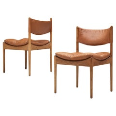 Kristian Solmer Vedel Pair of 'Modus' Chairs in Cognac Leather