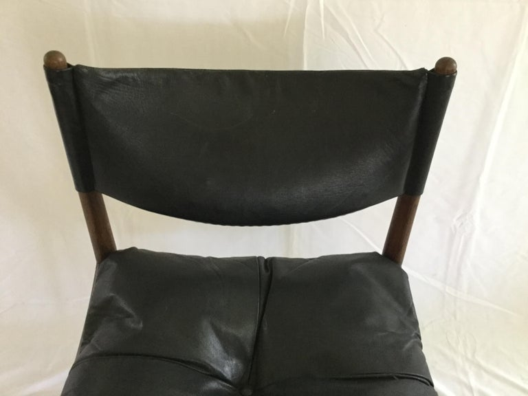 Mid-Century Modern 6 Kristian Solmer Vedel Rosewood and Leather Dining Chairs For Sale