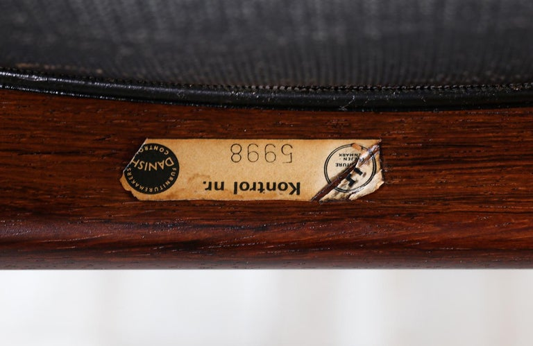 Kristian Vedel Rosewood & Leather Stools for Søren Willadsen For Sale 4
