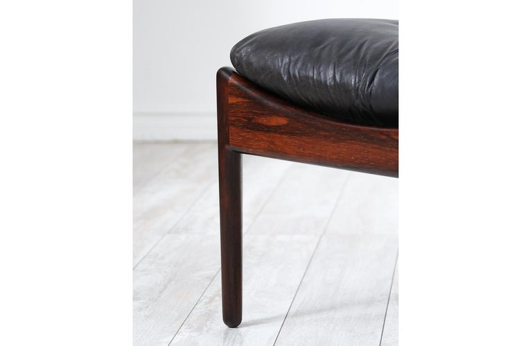 Kristian Vedel Rosewood & Leather Stools for Søren Willadsen For Sale 1