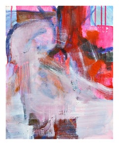 Small Scale Seated Nude Pink & Red Abstract