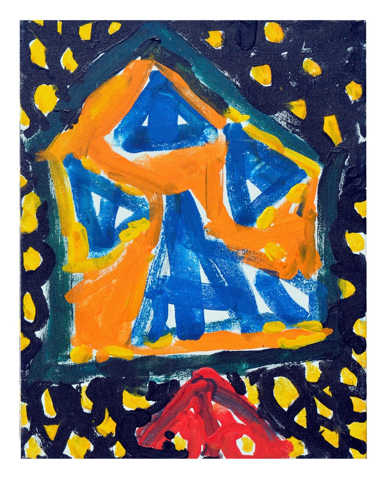 Kristin Cohen Abstract Painting - Abstract Expressionism -- Yellow Lattice