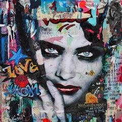 Gunfire & Smoke - Fashion,Popart, Painting, 21st C., Celebrity, Contemporary Art