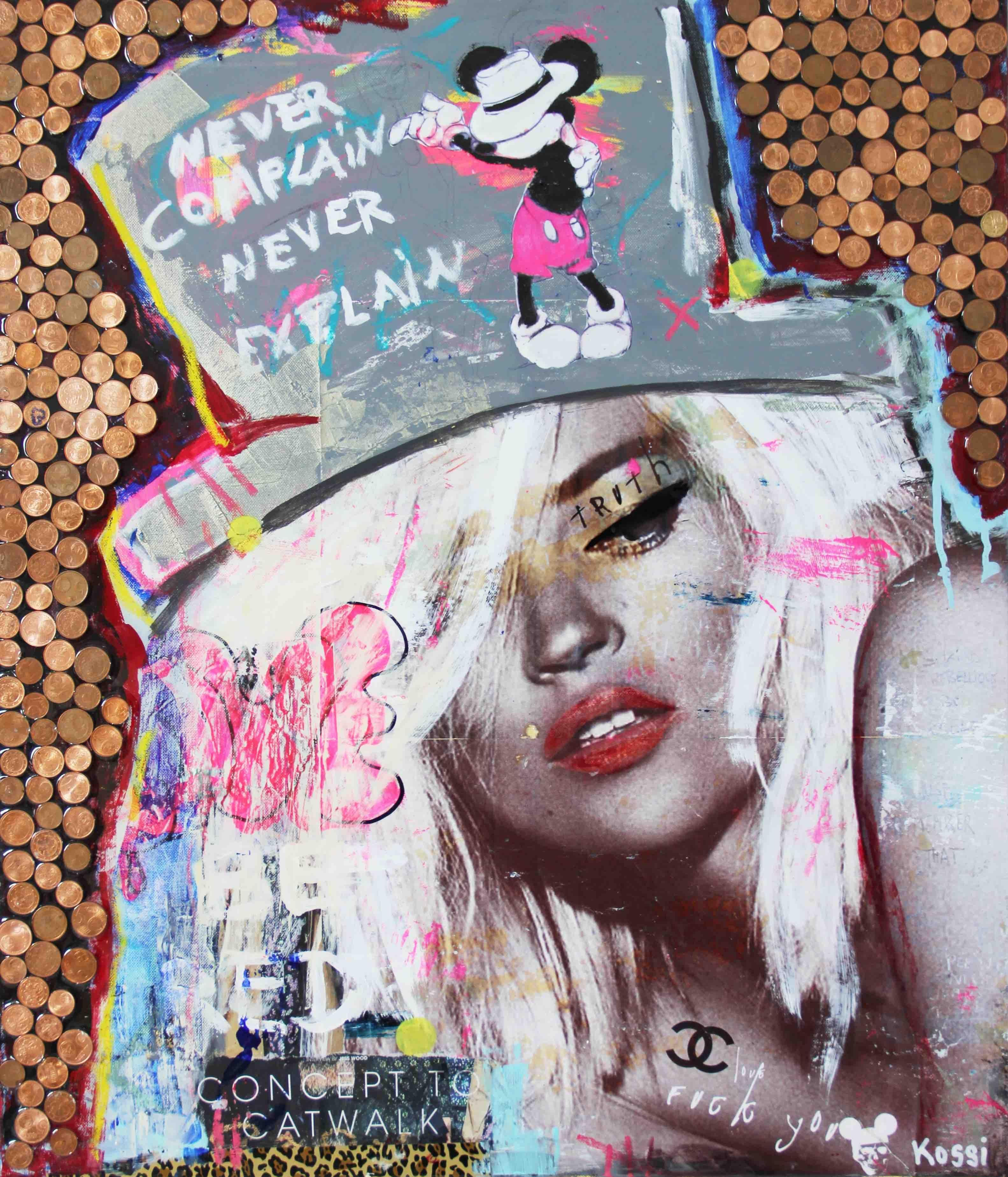 Kate´s Money - Kate Moss, Popart, Painting, 21st C., Celebrity, Contemporary Art