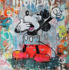 Monday Mickey - Graffiti Popart, Painting, 21st C., Cartoon, Contemporary Art