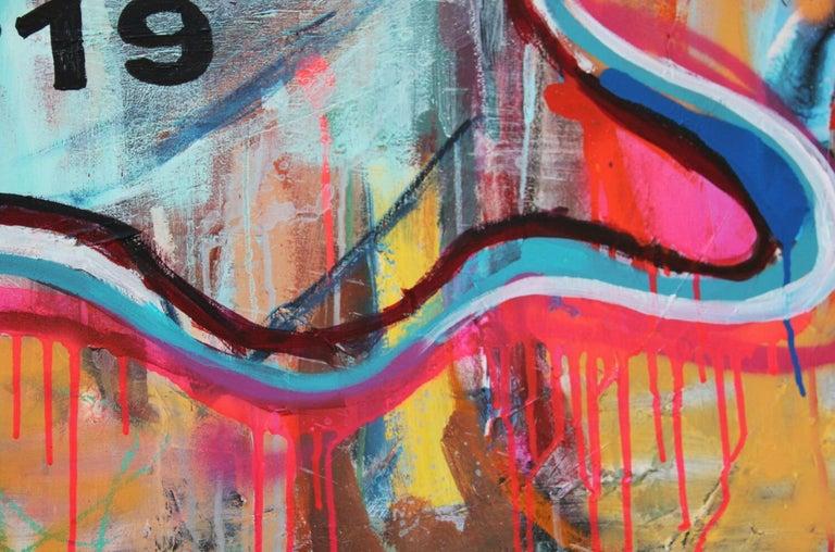 NR. 19 COVID JOKER - expressive, Joker, painting, Contemporary, Pop Art, Chanel For Sale 1
