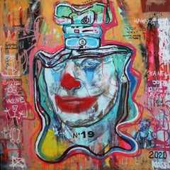 NR. 19 COVID JOKER - expressive, Joker, painting, Contemporary, Pop Art, Chanel