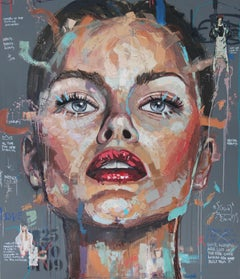 Storm - Face, Character, Popart, expressive Painting, Woman, Contemporary Art