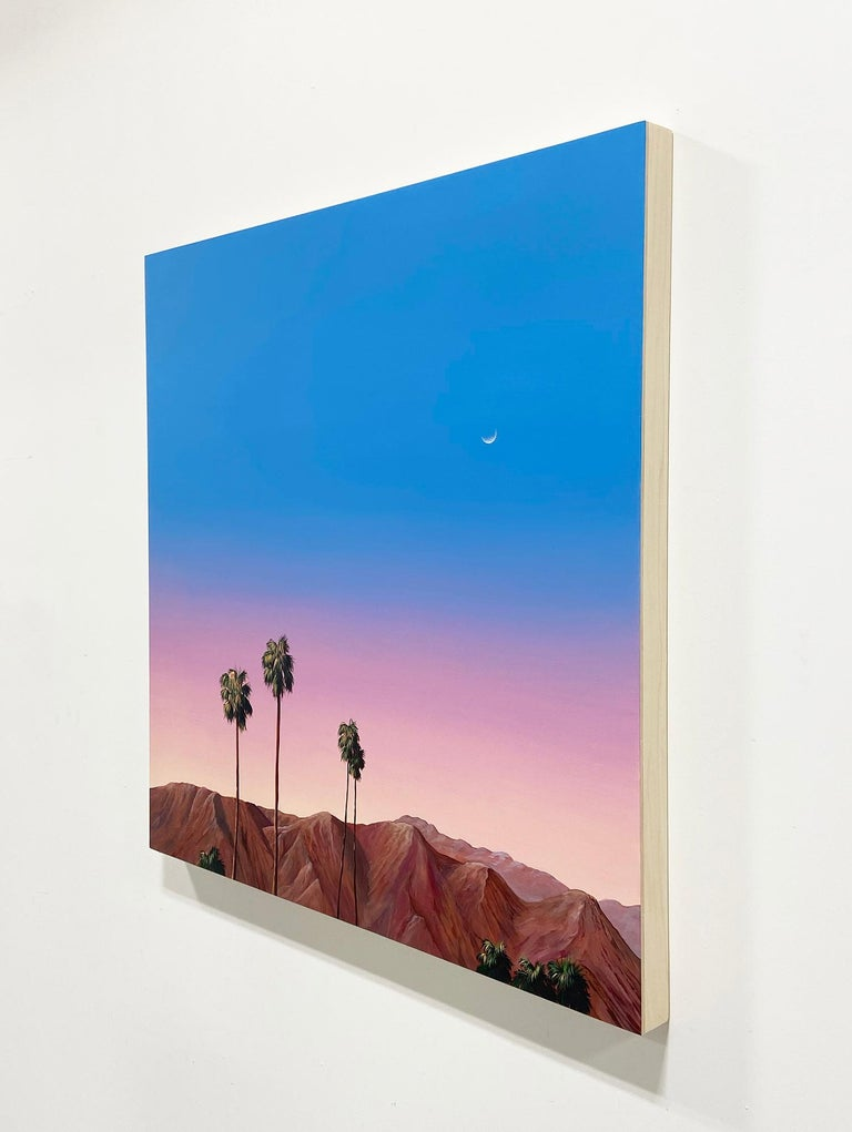 Palm Springs (Sunset) - Contemporary Painting by Kristin Moore