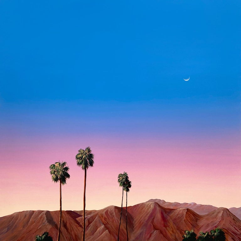 Palm Springs (Sunset) - Painting by Kristin Moore