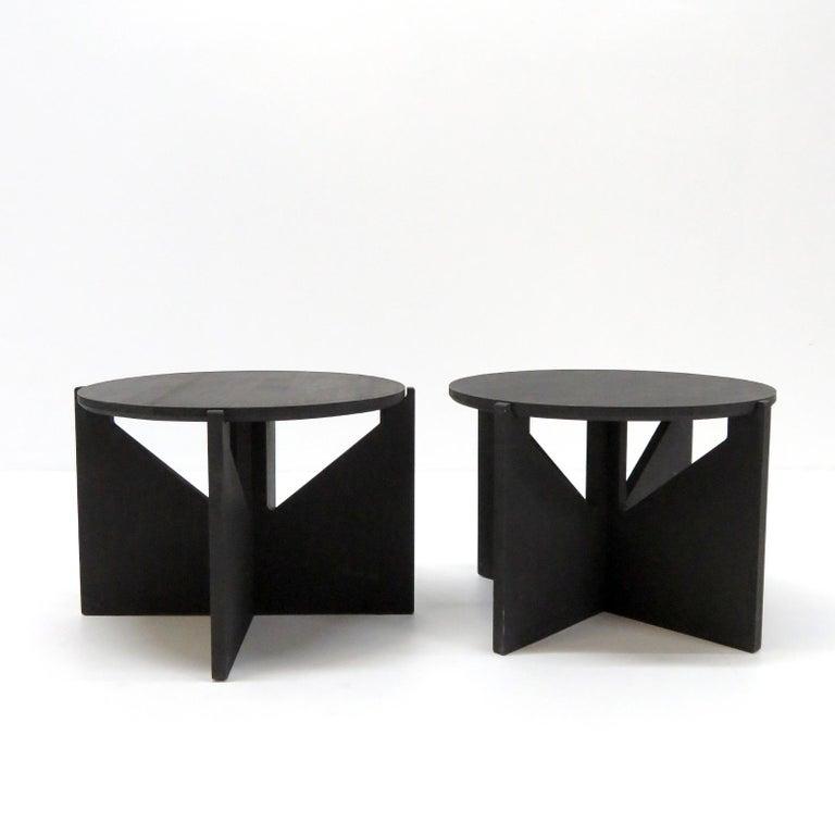 Hardwood Kristina Dam Side Tables For Sale