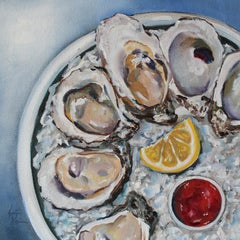 Afternoon Oysters, Oil Painting