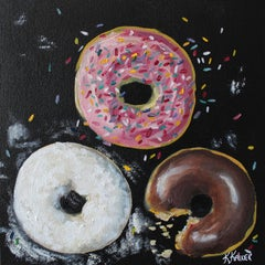 Doughnuts, Oil Painting