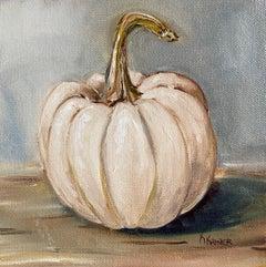 Miniature Casper Pumpkin, Oil Painting