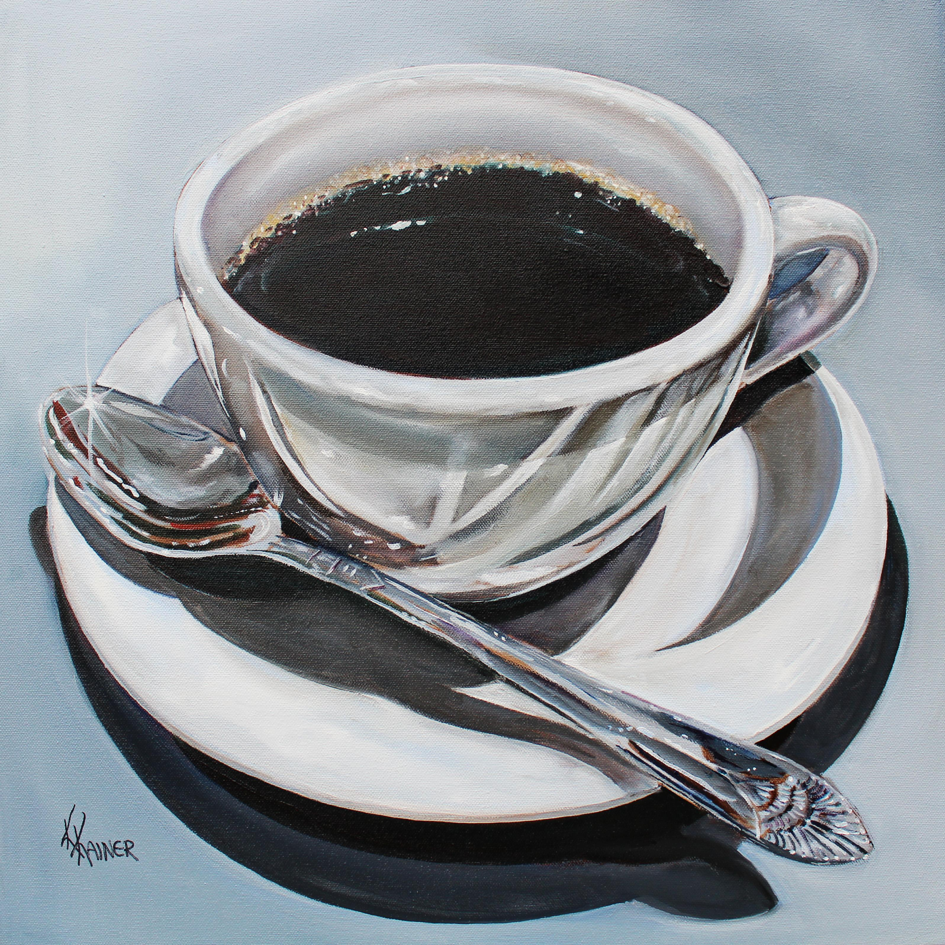 Cup of Coffee 2 Original Oil Painting by Artist Kristine Kainer