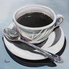 Morning Coffee, Oil Painting