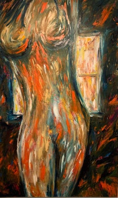 """""""Nude In Front Of The Window"""" Oil On Canvas 2019 by Kristy"""