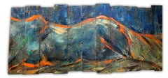 """""""Reclining Nude"""" Oil on wood 28""""x65"""" by Kristy"""
