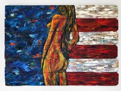 """""""Stand"""" Oil On Reclaimed Wood By Kristy Chettle"""