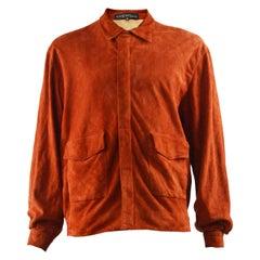Krizia Men's Vintage Suede Blouson Jacket