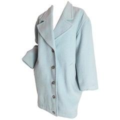Krizia oversized mint wool coat