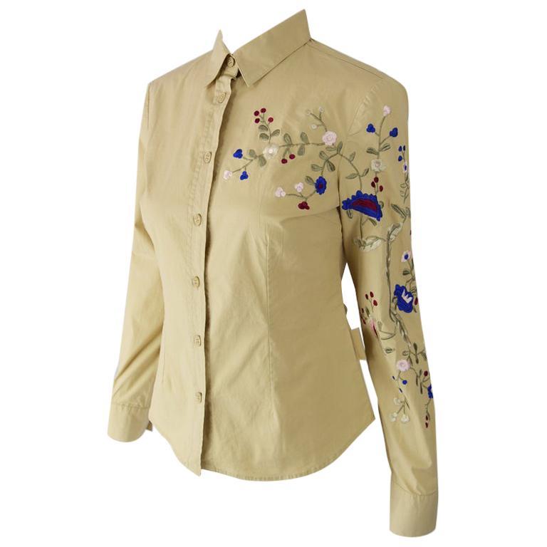 Krizia Vintage Embroidered Shirt
