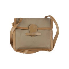 Krizia Vintage Vinyl Canvas Messenger Bag