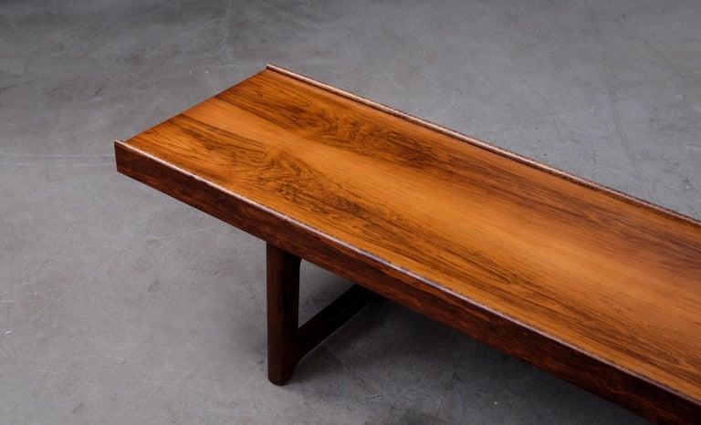 Scandinavian Modern Krobo Bench / Side Table by Torbjörn Afdal, Bruksbo, 1960s For Sale