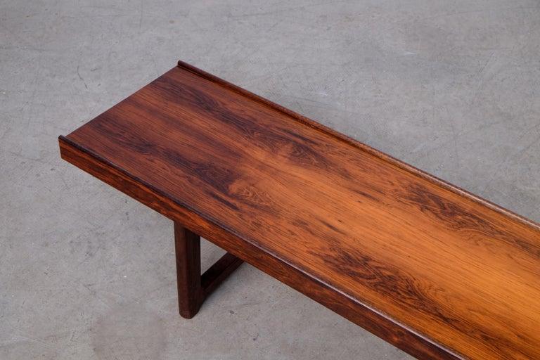 Krobo Bench / Side Table by Torbjörn Afdal, Bruksbo, 1960s In Good Condition For Sale In Stockholm, SE