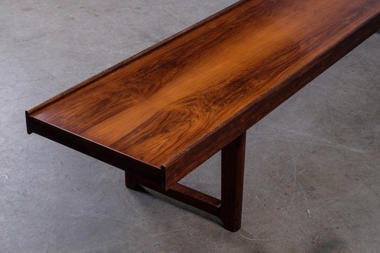 Krobo Bench / Side Table by Torbjörn Afdal, Bruksbo, 1960s For Sale 2