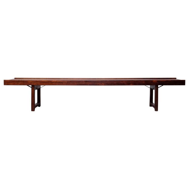Krobo Bench / Side Table by Torbjörn Afdal, Bruksbo, 1960s For Sale