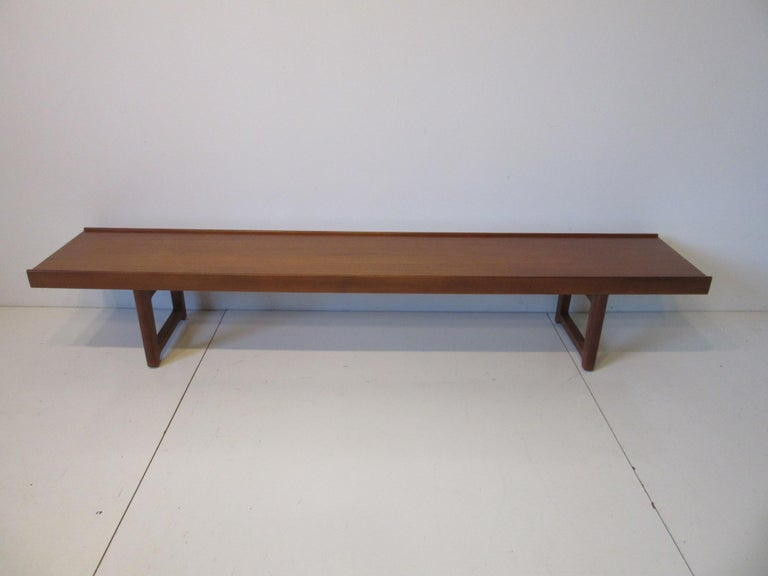 Norwegian Krobo Teak Bench by Tobjorn Afdal, Made in Norway For Sale