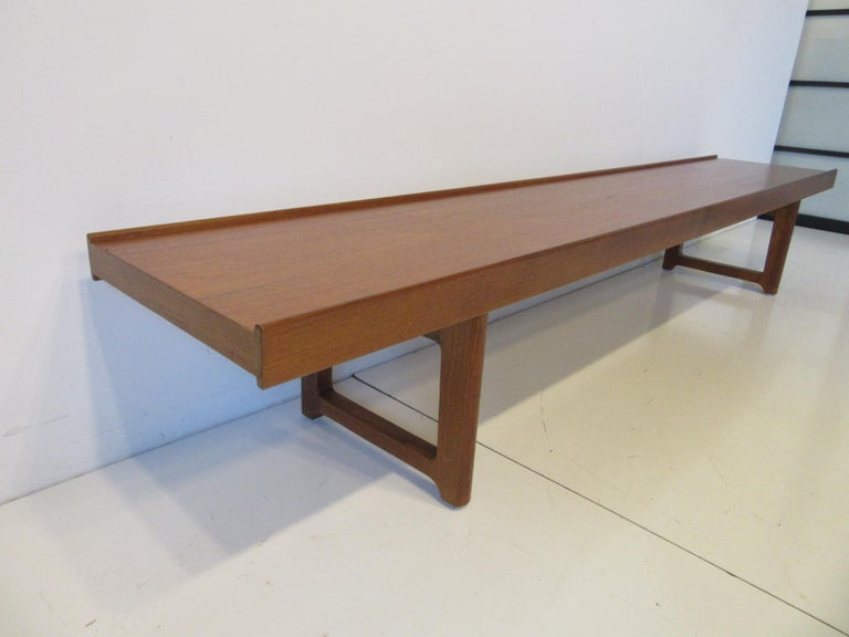 Krobo Teak Bench by Tobjorn Afdal, Made in Norway In Good Condition For Sale In Cincinnati, OH