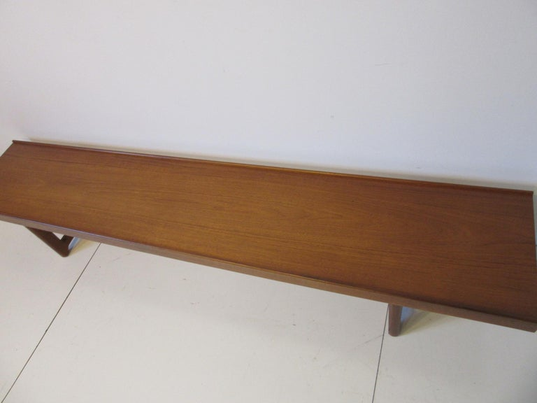 Krobo Teak Bench by Tobjorn Afdal, Made in Norway For Sale 1