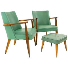 Kroehler Midcentury Occasional Lounge Chairs, Pair